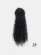 11 цветов кукуруза Пермский хвост Волосы Расширения пушистые длинные вьющиеся Парик шт. - #01