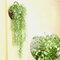 緑の植物花つるDecoratiプラスチック花植物ハンギングバスケット花装飾壁掛け - 白い