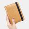 Women RIFD Genuine Leather 4 Card Slots 2 Cell Phone Card Multifunctional ID Package Money Clip Wallet Purse - Yellow