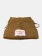 Men & Damen Cute Piggy Katze Ohren Plain Color Warm halten Winddicht gestrickt Hut - Kaffee