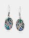 Vintage Dragonfly Women Earrings Silver-Plated Pendant Bridal Earrings Gift - Silver