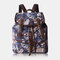 Women Ethnic Printed Floral Travel Backpack - #03