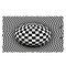 Round Carpet, Checkered Vortexs Optical Illusions Non Slip Area Rug, Durbale Anti-Slip Floor Mat Non-Woven Black White Doormat, for Living Dinning Room Bedroom Kitchen - #1