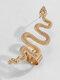Vintage Alloy Animal Snake-shaped Earrings - Golden(Left)