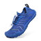 Unisex Kids Outdoor Mesh Fabric Breathable Non Slip Wearable Soft Water Sneakers - Blue