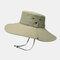 Hat Male Sun Hat Outdoor 12CM Oversized Brim Fisherman Hat Men Summer Mountaineering Sun Hat - Beige