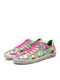 SOCOFY Women Checkered Color Jelly Printed Comfy Wearable Lace Up Casual Sneakers Running Walking Shoes Skate Shoes For Easter Gifts - Green