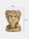 1 pieza exquisito jarrón de resina plantas maceta diosa flor hada cabeza maceta hogar decorativo personaje estatua adorno jarrón - #03