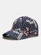 यूनिसेक्स कॉटन ब्रिटिश फ्लैग पैटर्न कैजुअल फैशन सनवीसर पीक कैप बेसबॉल टोपी - नौसेना