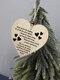 Placa de madeira para presente pendurada com chip de Natal de madeira Pingente Coração Decoração de garrafa de vinho em forma de etiquetas para casa - #09