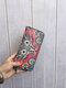Women Ethnic Print 6.5 Inch Phone Bag Money Clip Wallet Purse - #10