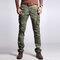 Men's Cargo Pants Multi Pockets Outdoor Camo Casual Pants - Green Camo