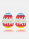Easter Cute Bunny Print Earrings Leather Stitching Drop Earrings - #06