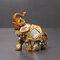 الفيل أنيقة تمثال جذع الفيل تمثال الحرف الحلي الرئيسية مكتب ديكور سطح المكتب هدية - خشب