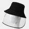COLLROWN Adjustable Sun Hat With Large Eaves Anti-fog Removable Sun Visor - Black