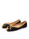 Plus Size Women Casual Bowknot Woven Single Shoes Comfy Soft Daily Flats - Black