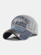 Men Washed Cotton Embroidery Baseball Cap Outdoor Sunshade Adjustable Hats - #04