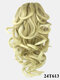 8 Colors Catch Clip Ponytail Hair Extensions Medium-Length Curly Chemical Fiber False Hair Pieces - #03