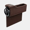 Boîte de rangement pour siège de voiture Boîte de rangement pour pièces de monnaie en cuir multifonction - Marron 1