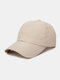 Unisex Quick-dry Solid Color Travel Sunshade Breathable Baseball Hat - Beige