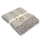 Knitted Wool Blanket Solid Color Waffle Embossed Blanket Nordic Decorative Blanket for Sofa Bed Throw Towell Cape Pink Blanket - Light Gray