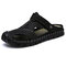 Men Hand Stitching Leather Anti-collision Large Size Soft Sole Casual Sandals