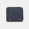 Men Genuine Leather RFID 7 Card Slots Coin Purse Wallet - Blue