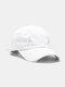 Coton unisexe trous cassés mode chapeau de baseball pare-soleil extérieur - blanc