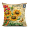 Flowers Pattern Quote Pillow Case Sparkly and Colorful Cotton Linen Vintage Style Cushion Cover - #1