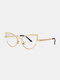 Unisex Metal Cat-eye Small Frame Colorful Lens Anti-UV Sunglasses - #05