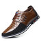 Men Classic Business Casual Slip On Cow Leather Loafers - Brown