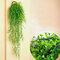 緑の植物花つるDecoratiプラスチック花植物ハンギングバスケット花装飾壁掛け - 緑