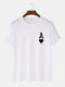 Mens Ace Of Hearts Poker Print 100% Cotton Short Sleeve T-Shirts-9 Colors - White2