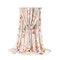 Bufanda Classic con estampado de tira de lino y algodón multicolor