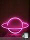 LED Planet Pattern Neon Light Dual-use Battery USB Charging Home Room Decor Night Light For Club Bedroom Living Room Party Garden - #02