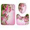 180x180cm Shower Curtain/3-Piece Floor Mat Butterfly Pink Rose Carpet Toilet Mat Bathroom Accessories - #2