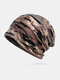 Women & Men Dual-use Warm Outdoor Mixed Color Casual Personality Brimless Beanie Scarf - Coffee