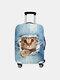Custodia protettiva per bagagli da viaggio resistente all'usura con stampa gatto - #02