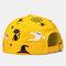 COLLROWN Men & Damen Halloween Style Pattern Krempe Beanie Landlord Cap Skull Cap - Gelb