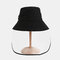 Anti-fog Brim Hat Sun Visor Fisherman Hat Cover Face - Black