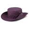 メンズレディースシルクバイザーバケットハットフィッシャーマンハットアジャスタブルチンストラップ折りたたみ帽子 - 紫