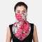 Women Ear-mounted Scarf Floral Breathable Protection Sunscreen Face Masks Neck  - 02