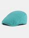 पुरुषों और महिलाओं के ठोस रंग आकस्मिक आउटडोर आगे टोपी फ्लैट टोपी टोपी टोपी - नीली झील