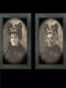 1 PC Halloween Room Bar Decorative 3D Horror Characters Dress Up Photo Frame Picture Album Decoration Props - #25