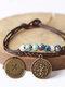 Vintage Constellation Circle-shape Ceramic Alloy Bracelets - #11