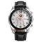 Business Style Men Wrist Watch Decorate Three Dials Leather Strap Quartz Watches - 04