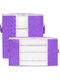 2 piezas de almacenamiento de edredón no tejido Bolsa ropa para el hogar edredón almohada manta de almacenamiento Bolsa transparente grueso resistente al desgaste - púrpura