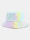 Women & Men Corduroy Multicolor Tie Dye Casual Soft Outdoor All-match Bucket Hat - #13