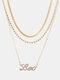 Collar Vintage Doce Constelaciones Mujer Collar de diamantes con incrustaciones de múltiples capas Colgante - León