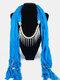20 Colors Bohemian Women Scarf Necklace Shawl Autumn Winter Tassel Pendant Necklace - #06